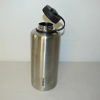 LIFELINE 7508 SILVER STAINLESS STEEL VACUUM INSULATED DOUBLE WALL GROWLER