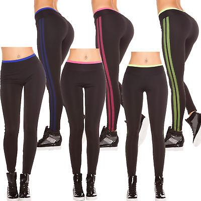 Jersey Tights Leggings (Sport Leggings Fitness Leggins Active Treggins Jersey Pants Mesh Tights S 34 36 )