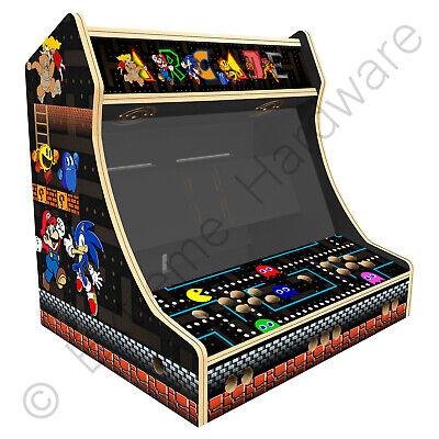 "BitCade 2 Player 24"" Bartop Arcade Machine Cabinet with Mixed Arcade Artwork"