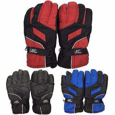 (Waterproof Thermal Gloves Winter Snow Sports Skiing Cycling Motorcycle Men Women)