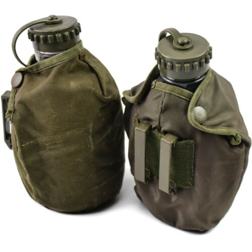 Original Austrian Army Drinking Flask Water Bottle Military Canteen pot pouch