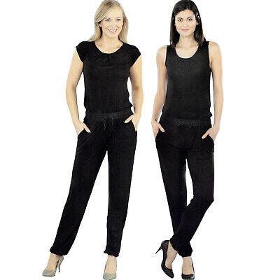 Damen Jumpsuit schwarz elegant lang Overall Einteiler Sommer Hosenanzug Öko Tex Jumpsuit Schwarz