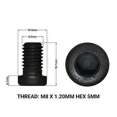 FRONT BRAKE DISC RETAINING SCREWS FITS: BMW 3 SERIES E46 M3 98-05 2 DRS1668D