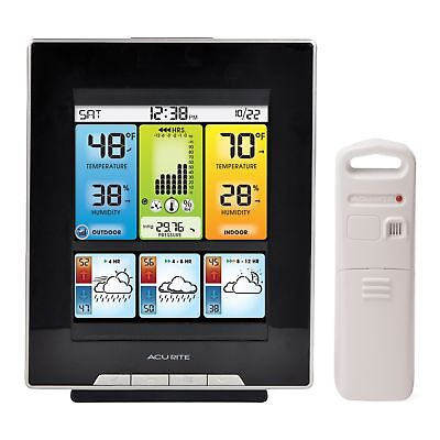 Home Weather Station AcuRite Wireless Digital Outdoor LCD Temperature Forecast
