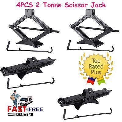4 PCs 5000lb RV Camper Scissor Leveling Jacks Trailer Stabilizer W/Handle MAX for sale  Chino