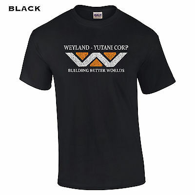 008 Weyland Industries Mens T Shirt Cool College Movie Halloween Aliens Sci Fi