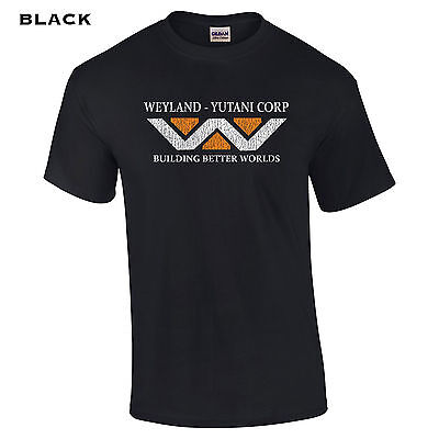 008 Weyland Industries Mens T-Shirt cool college movie halloween aliens sci-fi (Sci Fi Halloween)