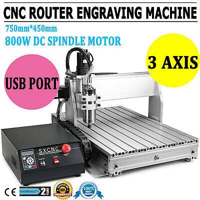 3 Axis 6040z Cnc Router Engraver Engraving Carving Machine Ballscrew Usb Win10