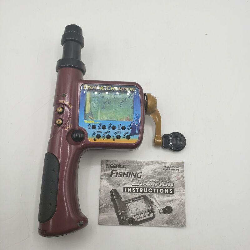Vintage Tiger Fishing Champion Handheld Electronic Game 1997 w/ instructions