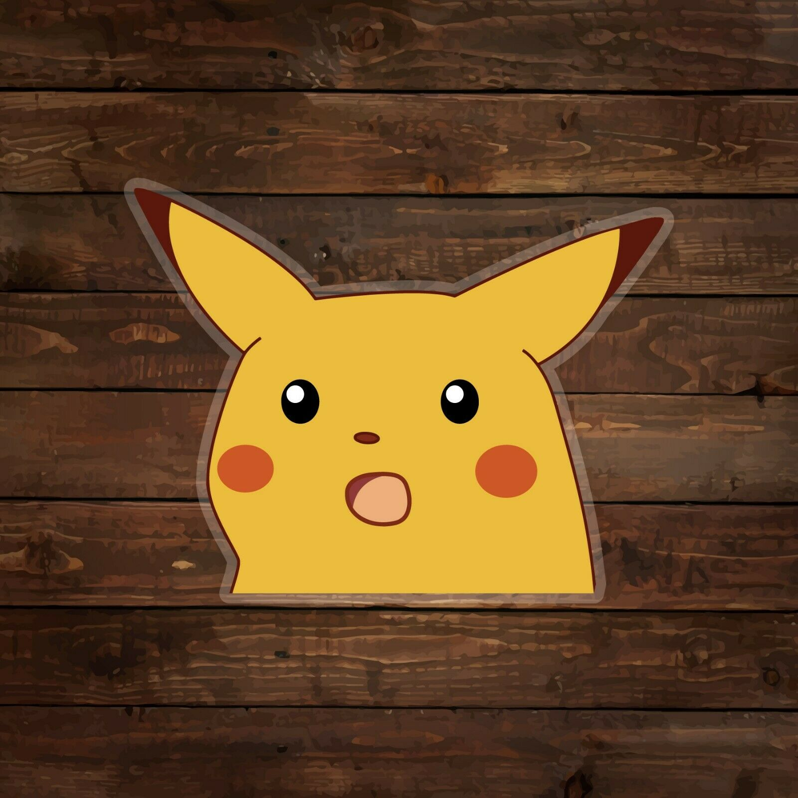Home Decoration - Surprised Pikachu Meme [on clear] (Pokemon) Decal/Sticker
