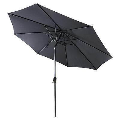 Sonnenschirm 3m anthrazit mit Kurbel neigbar wasserabweisend UV Schutz 50+