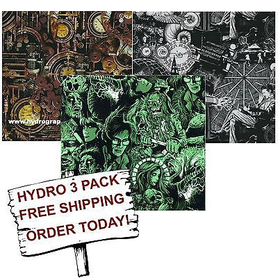 Hydrographic Film Water Transfer Printing Film Hydro Dip Inventors 3 Pack