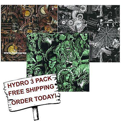 Hydrographic Film Water Transfer Printing Film Hydro Dip Inventors 3 Pack