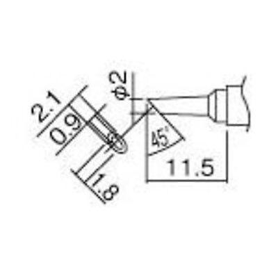 Hakko Soldering Tip 2bc T12-bcm2 For Fm2027fm2028 Fx950fx951fx952 Fs New