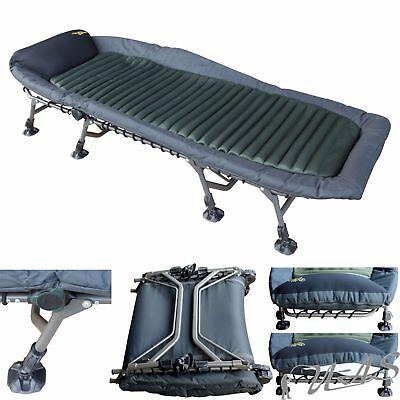 Delta Fishing XL Luxus Aluminium Karpfenliege 8 Bein Bed Chair Angelliege Kva