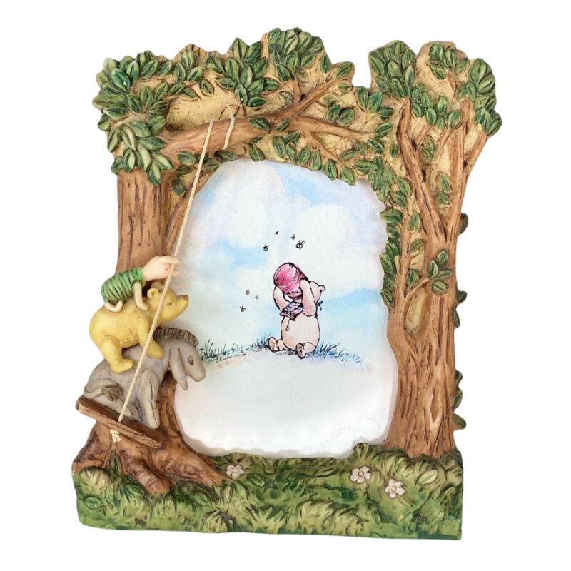 Winnie the Pooh Disney Charpente Picture Frame Swinging New Baby Nursery Decor