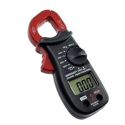 Handheld Digital Clamp Multimeter Ac Dc Volt Ac Amp Ohm Lcd Audible Diode Tester