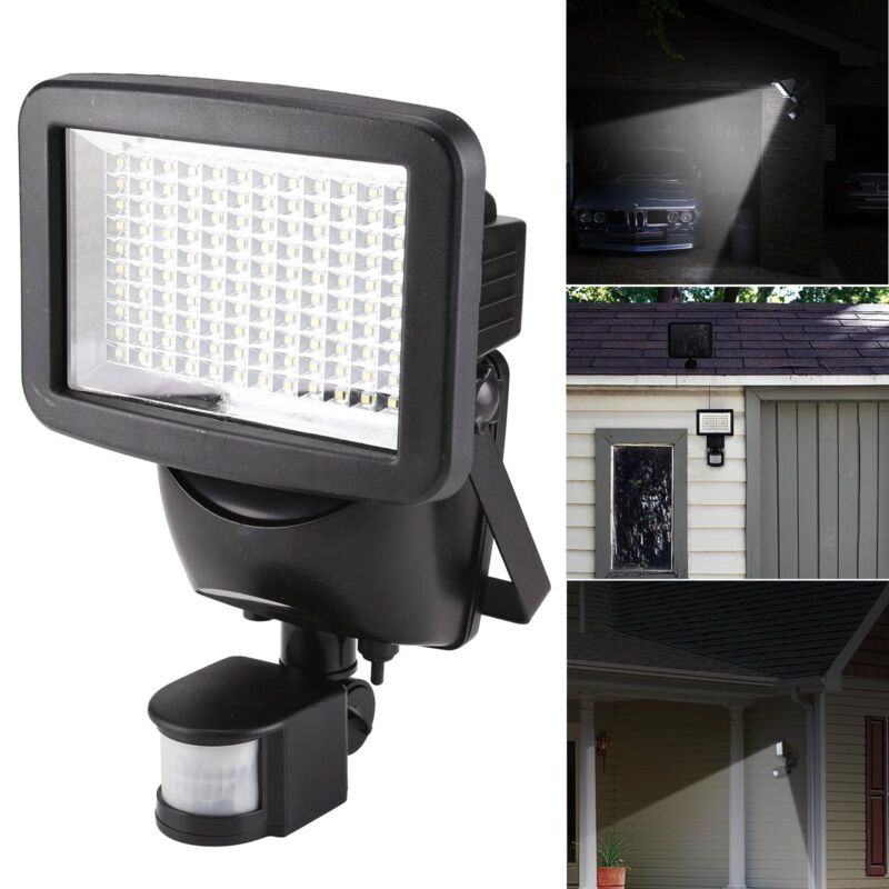 Details About 120 Led Outdoor Solar Motion Sensor Garden Floodlight Pir Security Light