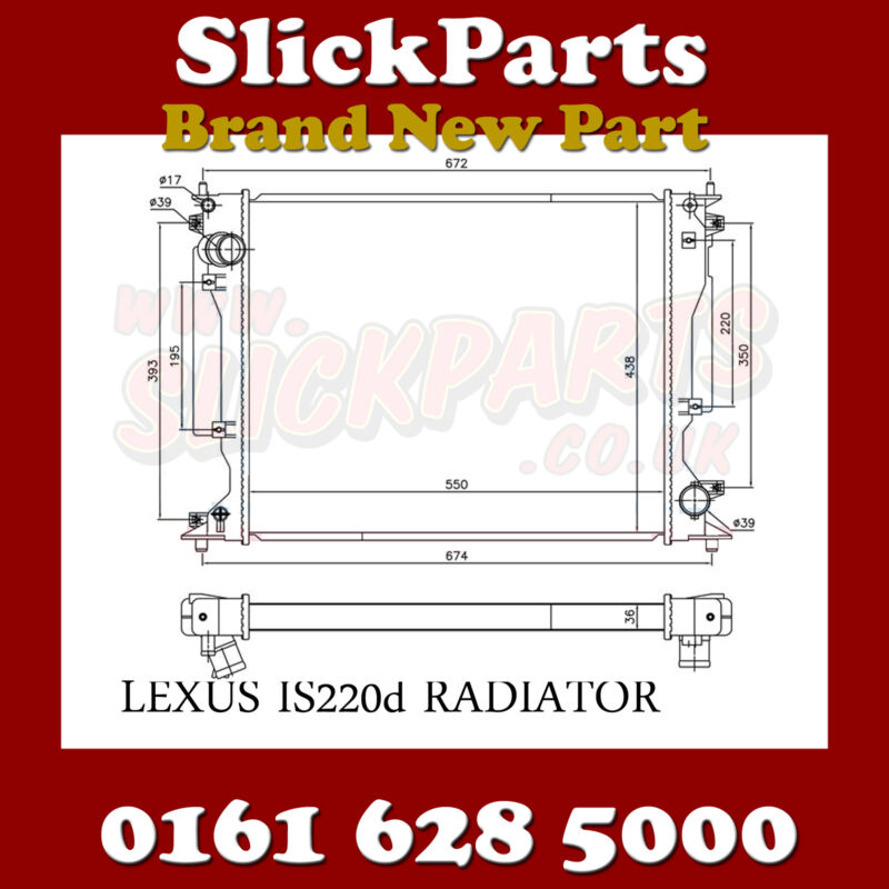 LEXUS IS220D IS220 RADIATOR 2005> MANUAL *NEW*