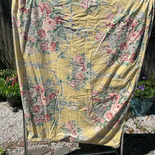 Vintage Ralph Lauren Evelyn Full Queen Duvet Cover Yellow Flowers Cottage Core