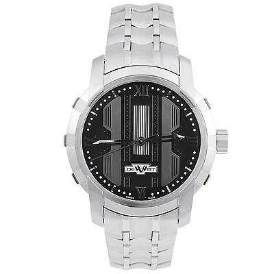 DeWitt Glorious Knight Stainless Steel Black Automatic Men's Watch FTV.HMS.002