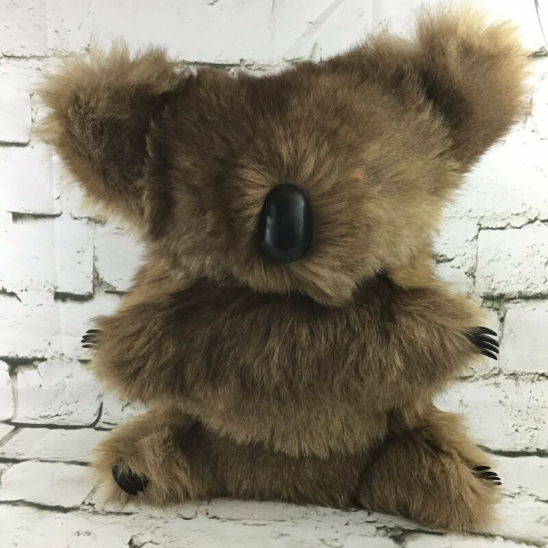 Vintage Koala Bear Plush Stiffly Stuffed Australian Animal Collectible Decor