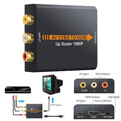 1080P Convertidor de Audio y Video Mini AV Adaptador CVBS Compuesto a...