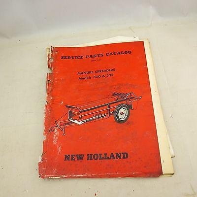 New Holland Service Parts Catalog Manure Spreaders Models 330 335