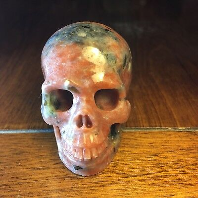 "2.0"" Red Sesame Seed Crystal Carved Healing Skull"