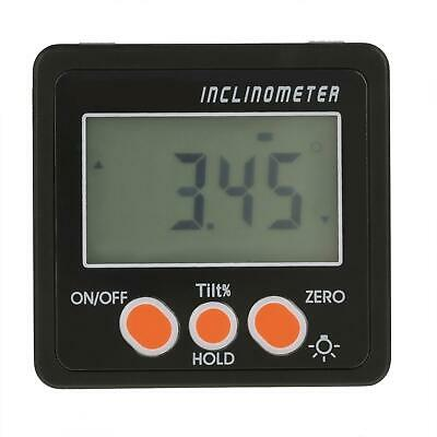 4 X 90 Lcd Digital Inclinometer Level Box Angle Meter Finder Protractor Black