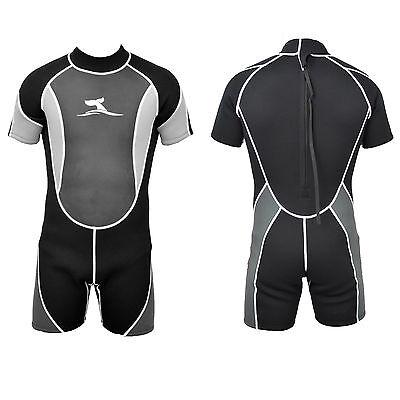 Herren 3 mm Neopren Shorty Größe XL Neoprenanzug Surfanzug mit Mesh Skin