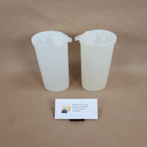 Vintage Set of 2 Tupperware Sweet Saver Containers w/ Lids # 640 White