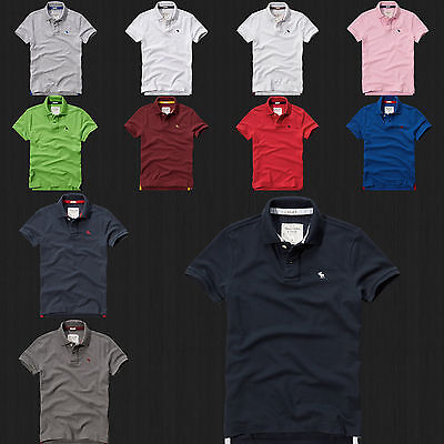 New Abercrombie & Fitch  Men Bradley Pond Polo Shirt By Hollister All Size Color Abercrombie Fitch Mens Polo