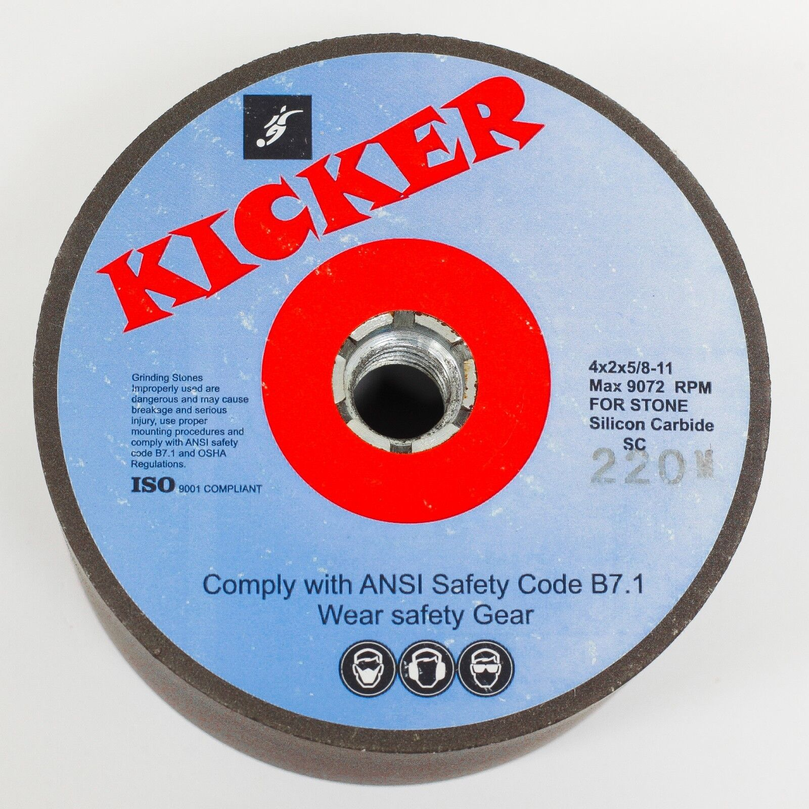 """NEW Kicker  Brand Silicone Carbide Grinding Wheel 5/""""-4/"""" x 2/"""" 60 Grit M Hardness"""
