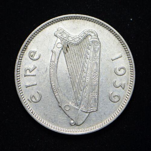 1939 Ireland 2 Florin .750 Silver Coin Nice Condition (bb3951)