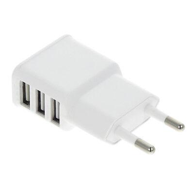 Universal 3fach Mehrfach 2A Multi USB Port 220V Netzteil Adapter Ladegerät Wand