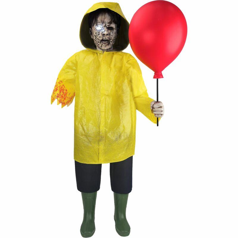 "Animated Dead Georgie, IT Chapter 2, Animatronic Halloween Decoration, 27"" x 50"""