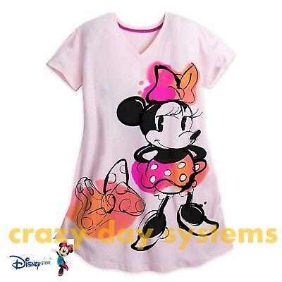 Disney Store Minnie Mouse Womens Nightshirt Nightgown M/L, 3XL NEW - Pjs Store