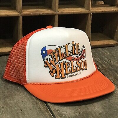 Willie Nelson & Family Country Music Trucker Hat Vintage 80's Style Snapback Org