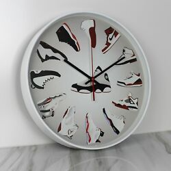 14 Large Luxury Quartz Wall Clock Nike Air Jordan Sneaker Head HypeBeast Decor