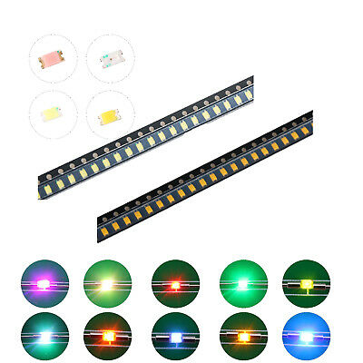 200pcs 10kinds 06031008 Smd Smt Led Diodes White Red Blue Mix Kit Lamp Lights