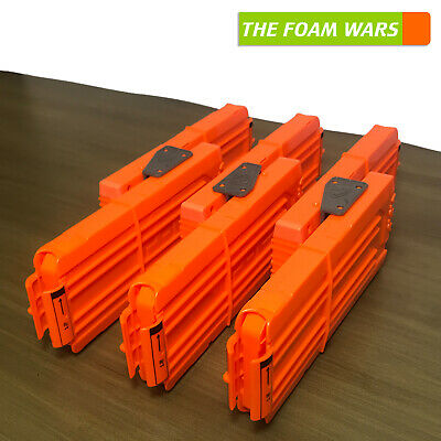 3 Nerf Modulus Flip Clips, dual tactical magazine