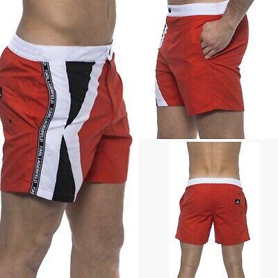 Karl Lagerfeld Men Swimwear Red Logo Swim shorts U.K. Large