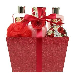 Spa gift basket ebay valentine bath and body set spa gift basket with love of rose fragrance by negle Images