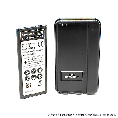 3800mAh Battery for Samsung Galaxy Note 4 N910 N910A N910P Dock Charger
