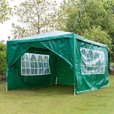 Heavy Duty Gazebo Sides Marquee Canopy Waterproof Wedding Party Tent 3Mx4M Green