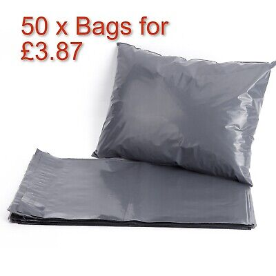 50 STRONG POLY MAILING GREY SELF SEAL BAGS - 10