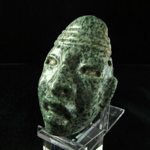 Ancient Pre-Columbian Olmec Jade Stone Mask ~ Museum Grade