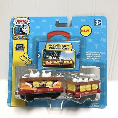 - Thomas Take 'n Play McColl's Farm Chicken Cars 2pc Die-cast Train MAKES SOUNDS