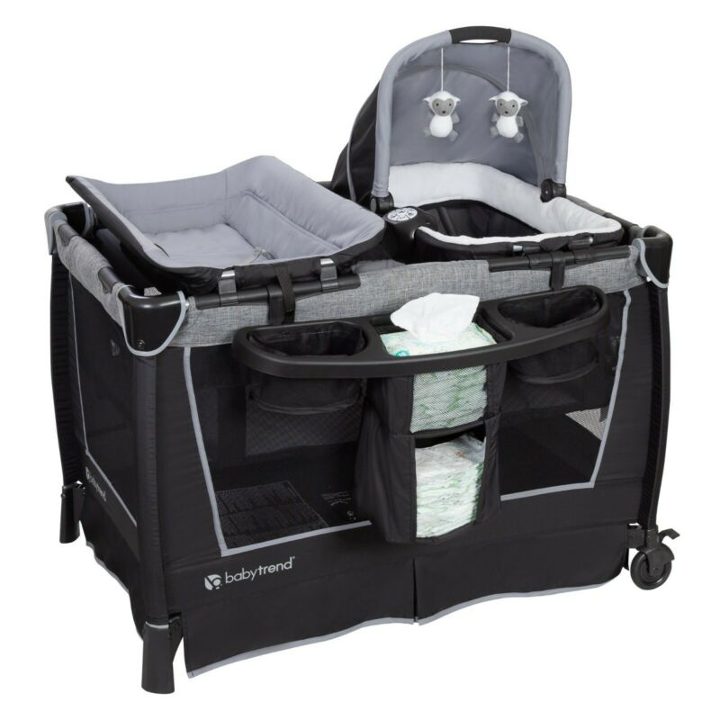 Baby Trend Simply Smart Nursery Center Playard, Whisper Grey